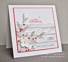 Stampin' Up ideas and supplies from Vicky at Crafting Clare's Paper Moments: Hardwood and Hellebores