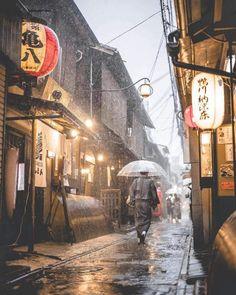 A Rainy day in Ponto-chō Kyoto.