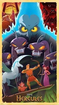 Disney's Hercules . the only red head Disney prince👑 . Such a great childhood movie that encourages having good morals Disney Pixar, Disney Fan Art, Disney Animation, Film Disney, Disney Villains, Disney And Dreamworks, Animation Movies, Megara Disney, Hades Disney