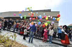 1er mai 2013 : Inauguration de la 1ère mairie BEPOS (Bâtiment à Energie Positive) d'Alsace à Guewenheim  © Dossmann / Région Alsace