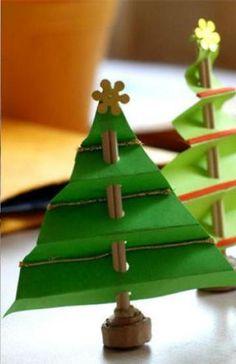 елочная игрушка елка из бумаги своими руками