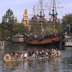 Canoes and Sailing Ship Columbia