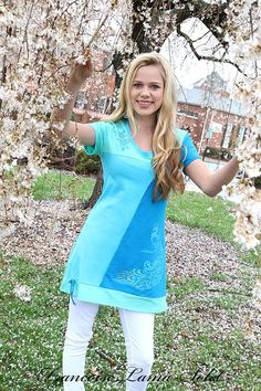 Women asymmetrical tunic short sleeve by francoiselamasolet