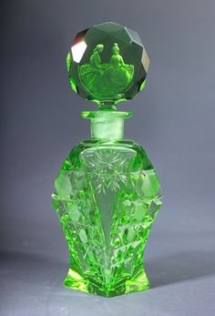 Czech vintage perfume bottle