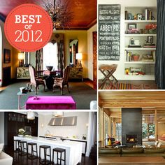 Peek Inside the Most Covetable Homes of 2012: From adventurous color palettes to enviable architectural details, our favorite homes of 2012 were over-the-top inspirational. Keep reading for a look inside our 13 most memorable house tours of the past year — that's one for every month of the year plus another for good luck!