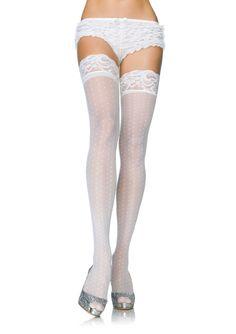white thigh highs