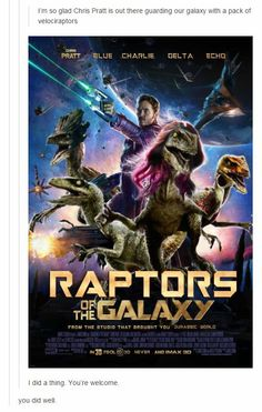 We thought we'd compile a list of the very best Jurassic World memes. We call it: The Absolute Best of the Chris Pratt Jurassic World Memes. Marvel Funny, Marvel Memes, Marvel Avengers, Jurassic Park World, Jurassic World Raptors, Jurassic Movies, Chris Pratt, The Villain, Guardians Of The Galaxy