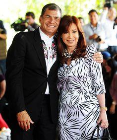 Junto a Rafael Correa - Cumbre Unasur en Ecuador