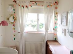 Confidence Boost: DIY Curtains & Window Treatment Examples from Real Kids' Rooms Kids Room Bed, Kids Room Curtains, Ikea Kids Room, Kids Room Paint, Kids Room Wall Art, Diy Curtains, Kids Rooms, Window Curtains, My Room