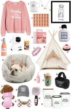 Lifestyle blogger Michelle Kehoe of Mash Elle shares the top affordable gifts for dog lovers. Spoil the pupper in your life with customizable t-shirts, hats, dog toys,  dog beds, brushes, food canisters, dog tends, dog artwork, done necklaces and more! #dogtreats #doglover #giftsfordogs #puppies #giftsforpuppies #giftsforpets #petgifts #dogpresents