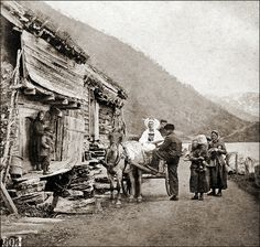 Norway, ca 1870 Location: Opheims Vandet near Vos, Norway Photographer: Knud Knudsen Knudsen was a pioneer within Norwegian photography and one of the first professional photographers in. Old Pictures, Old Photos, Vintage Photographs, Vintage Photos, Norwegian People, Kingdom Of Sweden, Norwegian Vikings, Norway Viking, Norwegian Style