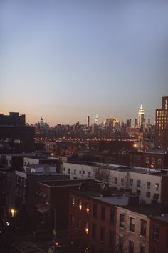 New York from Brooklyn.