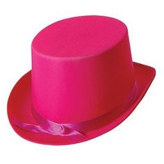 Top Hat Pink Satin The traditional Topper Style hats are made of satin material to give it a lovely satin finish and sheen. Fancy Dress Hats, Adult Fancy Dress, Party Accessories, Costume Accessories, Funny Hats, Satin Material, Pink Satin, Hats For Men, Pink Tops