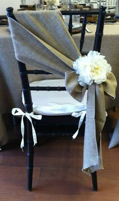 grey burlap wedding chair details ideas for 2017 country weddings