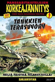 Korkeajännitys - Tankkien teräsvyöry. #egmont #sarjakuva #sarjis