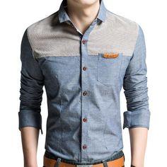 Fashion Men Dress Shirts Stylish New Shirts For Man Big Size M-4XL Spring & Autumn Man Shirts Long Sleeve Camisetas Masculina
