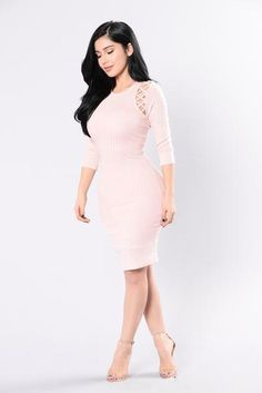 $ 32,99 USD  Charge Me Up Dress - Pink Powder