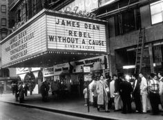 Times Square 1955 Rebel Without A Cause
