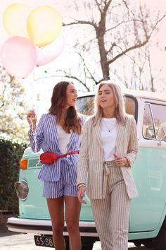 Striped suits - Dark blue & Crème   My Jewellery Sweet Memories, Dark Blue, Outfit Ideas, Shirt Dress, Jewellery, Suits, Dresses, Fashion, La Mode