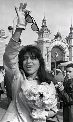 Anna Magnani in Moscow Anna Magnani, Divas, Foreign Celebrities, Dramatic Arts, Toni Braxton, Classic Italian, Celebrity Babies, Michelle Obama, Best Actress