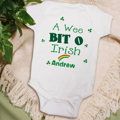 Personalized A Wee Bit O Irish Infant Outfit - Gifts Happen Here - 1