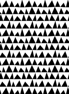 Pattern Design - 0 b&w triangles geometric pattern - CoDesign Magazine Geometric Patterns, Graphic Patterns, Textile Patterns, Pretty Patterns, White Patterns, Color Patterns, Art Patterns, Surface Pattern, Pattern Art