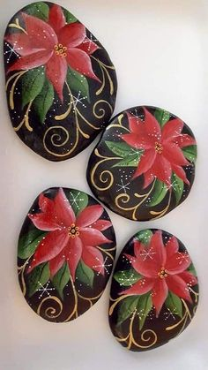 carterie, pergamano et tableaux - Page 3 - Steine bemalen - Diy Macrome Rock Painting Patterns, Rock Painting Ideas Easy, Rock Painting Designs, Pebble Painting, Pebble Art, Stone Painting, Stone Crafts, Rock Crafts, Christmas Rock