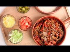Crock Pot Beef Fajitas Recipe Laura Vitale Laura In The Kitchen Episode