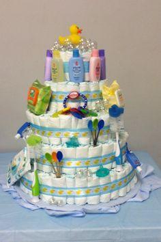 Rubber Ducky Baby Shower Diaper Cake