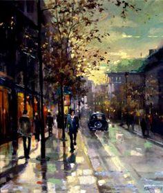 "Saatchi Online Artist Eva Czarniecka; Unknown, ""London Street"" #art"