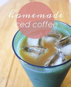 AppleJane: handmade / easy homemade iced coffee