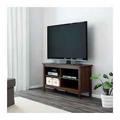 IKEA - BRUSALI, Mueble TV, blanco, , Baldas regulables. Adapta el espacio entre las baldas según tus necesidades.La salida para cables de la parte posterior permite ocultarlos manteniéndolos a mano.Con compartimentos abiertos para el reproductor de DVD, etc.