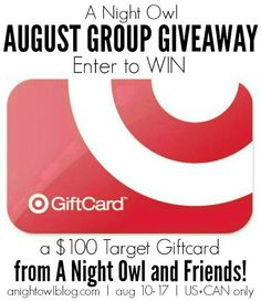 August $100 Target Gift Card Giveaway http://anightowlblog.com/2014/08/august-100-target-gift-card-giveaway.html#comment-258256