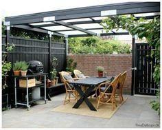 Her kan du se vores færdige terrasse/gårdhave (Tina Dalbøges kreative påfund) Backyard, Patio, Outdoor Furniture Sets, Outdoor Decor, Garden Pool, Garden Spaces, Hygge, Outdoor Gardens, Outdoor Structures