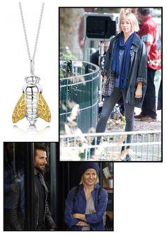 Sienna Miller wearing Strange of Lodon Honey be pendant in the film Burnt. 2015