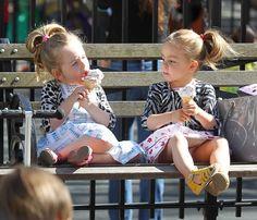 #Mini #outfits: Tabitha y Marion Broderick, en Manhattan