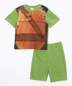 Green Teenage Mutant Ninja Turtles Character Pajama Set - Boys