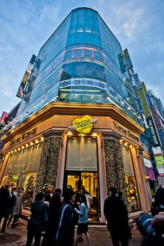 Myeongdong, Seoul... hehe my sweatshirt's from here ^^