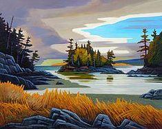 """Ensuing West Coast Cloudburst"" by Canadian Artist Nicholas Bott. Canadian Painters, Canadian Artists, Landscape Art Quilts, Landscape Paintings, Paintings I Love, Acrylic Art, Oeuvre D'art, Painting Inspiration, Cool Art"