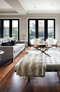 interior doors black against white trim and neutral wall