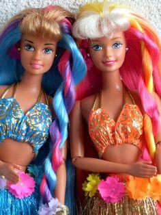 Barbie and Teresa hula hair by illina86, via Flickr