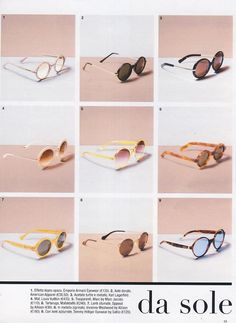 Glamour magazine featured Eyewear by American Apparel, Italy, September 2013.