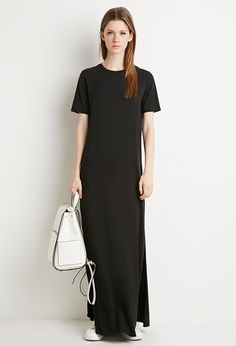 Side-Slit T-Shirt Maxi Dress