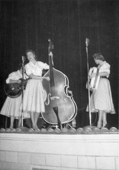 Mother Maybelle and the The Carter Sisters at Norfolk Auditorium - Feb 12, 1956 Photo © Raymond H. Pulley