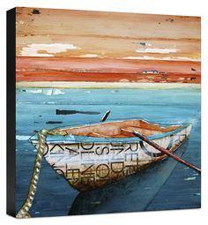 Tranquility Painting Print on Wrapped Canvas