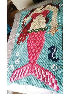 Crochet Patterns - Corner to Corner Mermaid Afghan