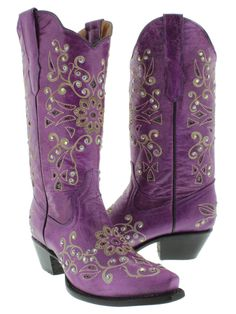 Womens Purple Cowboy boots. Of course we love them <3