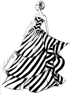 Leonardo De Armas fashion Illustration 2013 Fashion Illustration Sketches, Fashion Sketches, Fashion Art, Fashion Looks, Silk Lehenga, Indian Fashion Dresses, Fashion Design Drawings, Beautiful Bollywood Actress, Couture