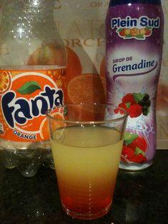 Een heerlijke cocktail ook voor kinderen. Je doet de 2 heerlijke drankjes door elkaar en drink lekker