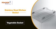 Purchase Stainless Steel Kitchen Baskets for Modular Kitchen The Stainless steel kitchen baskets render a sleek and trendy appearance to your kitchen and gives your cooking area a well-defined look by making your work easy and effortless. Kitchen Baskets, Kitchen Decor, Vegetable Basket, Stainless Steel Kitchen, Peacock, Facts, India, Cooking, Indie